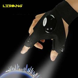 Siyah Oto Tamir Çalışma Açık Havada Balıkçılık Survival Aracı Yaratıcı Yürüyüş LED Işık Parmak Aydınlatma Eldiven ışık balıkçılık eldiven ışık nereden