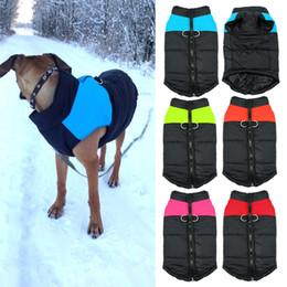 Warme welpenweste online-Wasserdichte Haustier Hund Welpen Weste Jacke Chihuahua Kleidung Warme Winter Hund Kleidung Mantel Für Kleine Mittelgroße Hunde S-5XL