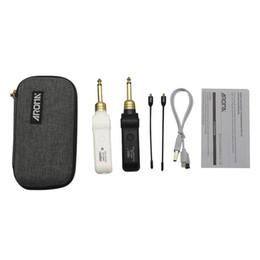 AROMA ARU-03 Système de transmission audio sans fil UHF Émetteur-récepteur Batterie intégrée avec câble pour basse de guitare électrique ? partir de fabricateur