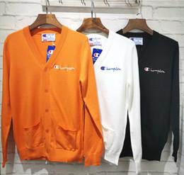 Jumpers de lã on-line-19FW Designer de Luxo Campeões de Lã Camisola Camisolas de lã Cardigan Camisola jumper Streetwear Ao Ar Livre Hoodies Casaco