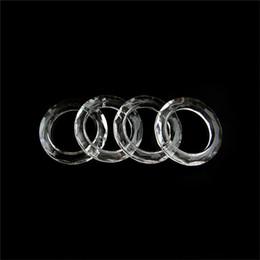 2019 ornamenti di vetro di vetro 10pcs trasparente anelli di cristallo 50mm forma per la lampada salotto domestico è recitato il ruolo di elegante ornamento