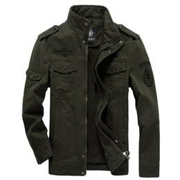 Ceket Pamuk Ceket Erkekler 2019 Sonbahar Asker Ordu Ceketler Erkek Marka Slothing Erkek Bombacı Ceketler Artı Boyutu M-6XL erkek nereden