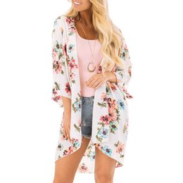 Blouses blanches pour femmes manches courtes en Ligne-Plus Size Harajuku Womens Tops And Blouses Summer White Floral Blouse Gothic Women Clothes 2019 Short Sleeve Blouse Blusas Mujer