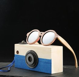 2019 lunettes garçons nouveau style Nouveau style lunettes de soleil rondes Angcen enfants bambou polarisé Lunettes de soleil garçons filles Vintage rétro lunettes de soleil en bois Enfants avec étui lunettes garçons nouveau style pas cher
