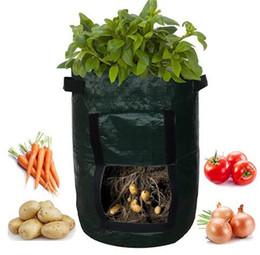 fiore cestino pendente all'ingrosso Sconti New Patio Outdoor Verticale da giardino Appeso Open Style Vegetable Planting Grow Bag Potato Fragola Fioriera Borse per coltivazione di patate