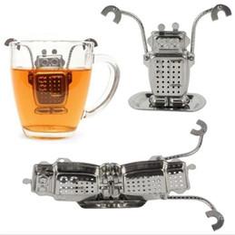 Partito di robot online-Durevole robot appeso infusore tè diffusore infusore filtro in acciaio inox filtro spezie a base di erbe per le parti domestiche accessori per la cucina