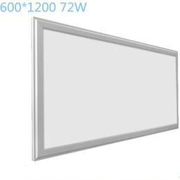 54W 60W 72W Ultra Slim LED Panel de luz 600X1200MM 2FTX4FT Plano Suspend LED Panel Light Superficie montada en interiores LED Accesorios de iluminación desde fabricantes