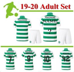 Camisas de futebol marrom on-line-19 20 MCGREGOR GRIFFITHS Kit de Futebol New Celtic SINCLAIR FORREST BROWN Rogic CHRISTIE Início camisas do futebol de manga curta conjunto