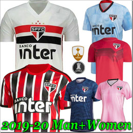 white club shorts Coupons - 19 20 Sao Paulo Jersey third away black red Soccer 2019 2020 DANI ALVES LIZIERO Hernanes PATO Brazil Club Home white football shirt