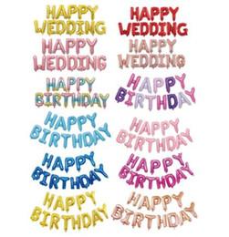 teppichrollen großhandel Rabatt 16 Zoll Aluminium Helium Folie HAPPY BIRTHDAY Buchstaben Alphabete Automatic Sealing Balloon für Birthday Party Decoration Supplies