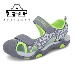 2019 scarpe chiuse a punta per l'estate Estate bambini scarpe sandali bambini punta chiusa per ragazzi PU in pelle antiscivolo sandali casual Outdoor Camouflage Boy sconti scarpe chiuse a punta per l'estate