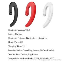 1pcs Mini bouchons d'oreilles sans fil Bone Oreilles Suspendues Sport Drive Le casque Bluetooth n'écoute pas le casque Bluetooth 5 5 avis ? partir de fabricateur