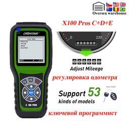 2019 laptop automotivo OBDStar X100 PROS C + D + E Modelo OBD2 ferramenta de diagnóstico X100 PROS Auto programador chave odómetro correção EEPROM Adapter IMOBILIZADOR