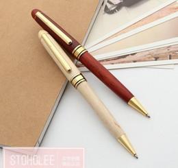 plumas alemanas Rebajas Nueva alta calidad vienen madera marca de calidad superior de Madera Bolígrafo Oficina Alemana de la novedad de los bolígrafos caliente