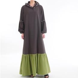 2019 vestiti musulmani islamici 2019 New Cotton Muslim Dress Donna Abbigliamento islamico Marocchino Bordare Abayas Donna Lungo Kaftans Abito Dubai Abaya Vestiti turchi sconti vestiti musulmani islamici