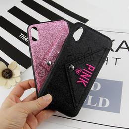 Canada ROSE Glitter Bling Doux TPU Cas Pour Iphone XR X XS Max 8 7 6 6 S Plus Brillant Sparkle Cartes Couverture De Téléphone Portable 100pcs Offre