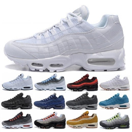Argentina 2019 Men 95 OG Cushion Navy Sport Nike Air Max 95 de alta calidad Chaussure 95s Walking Boots Hombre zapatillas Cushion 95 zapatillas de deporte Tamaño 36-46 cheap air 95 Suministro