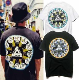 camiseta del monopatín del palacio Rebajas Moda palacios camiseta para hombre clásico triángulo impresión camiseta del diseñador calle hip hop monopatín blanco del negro camisetas de manga corta de gran tamaño