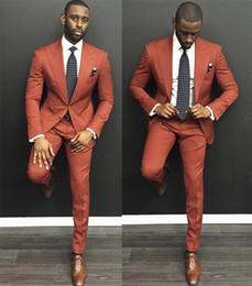 cravatta di harris tweed Sconti 2019 Uomo Abiti da sposa a due bottoni con risvolto a risvolto Slim Fit uomini d'affari prom dresses Custom Made (Jacket + Vest + Pants + Tie)
