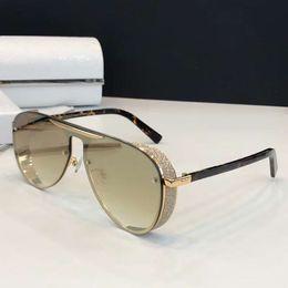 2019 gafas brillantes Mujeres MASY Pilot Glitter Sunglasses Gold Hanava Designer Gafas de sol Gafas de sol Gafas UV400 Protección Nuevo con estuche gafas brillantes baratos
