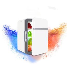 2019 mini congeladores Refrigerador de coche de 10L / mini refrigerador de doble uso para automóvil / congelador pequeño para el hogar refrigerador refrigerado incubadora fría y caliente mini congeladores baratos