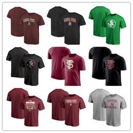 Wholesale Personalizado Florida State Seminoles St Patricks Dia gola Redonda T Shirt Fshion Verão Camiseta de Manga Curta frete grátis