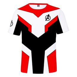 Tallas de camisa cm online-Adultos y niños Tamaño Avengers Fin del juego Camiseta Harajuku Camisas de verano Hombre famoso Impreso manga corta camiseta fresca