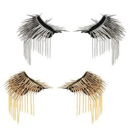 Cadeia de charrete on-line-2 pares de prata / ouro rebite cadeia broche borla epaulet placa de ombro punk mens partido emblema cosplay