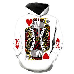 Camisola de pólo on-line-Euro tamanho venda quente novo outono e inverno jardas grandes dos homens clothing casual hoodie camisola de poker impressão pullover hoodies casuais