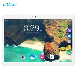 2019 android tablet pc sim karte CIGE X20 Tablet PC 10,1 Zoll 3G Telefon Tablets PCs Ocat Core 4 GB RAM 32 GB / 64 GB ROM Doppel-SIM-Karte Android 7.0 Smart Tablets PCs 10 günstig android tablet pc sim karte