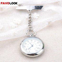 большие наручные часы Скидка Новый Стиль Большие Лица Медсестра Клип Часы Медицинского Использования Карманные Брелок Брелок Кварцевые Часы Цепи Застежка Бар