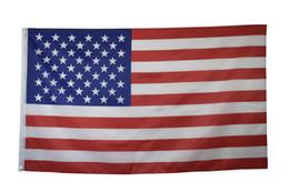 2019 konfetti silber großhandel 3x5ft Polyester lebendige Farben 2 Ösen Leinwand Header und doppelt um amerikanische Flagge genäht