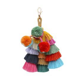 Sıcak satış El Yapımı anahtarlık Çanta charm Püskül anahtarlık çanta çekicilik Çanta charms Püskül çanta çekicilik araba anahtarlık püsküller Boho Çingene hediye nereden opel astra çevirme anahtarı tedarikçiler