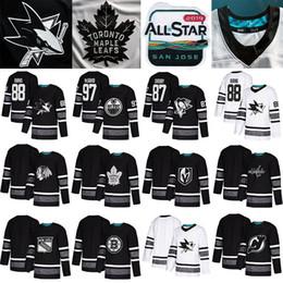caballero estrella Rebajas 2019 All Star Game camisetas de hockey San Jose Sharks chicago blackhawks Camisetas de hockey Edmonton Oilers Vegas Golden Knights Toronto Maple Leafs