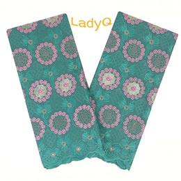 Canada LadyQ 2019 nouvelle robe de mariée nigériane en dentelle tissu 100% coton matériaux africain blanc dentelle voile suisse dentelle tissu en gros Offre
