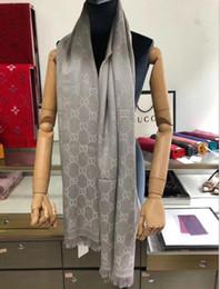 2019 sciarpa a righe bianche blu Sciarpa della sciarpa dello scialle della sciarpa della lana del jacquard di alta qualità di alta qualità eccellente superiore di lusso trasporto libero