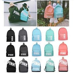 erwachsene bücher Rabatt Rosa Brief Designer Rucksack Oxford Umhängetasche Mädchen Jungen Studenten lieben rosa Schulbuchtaschen mit großer Kapazität für Erwachsene im Freien