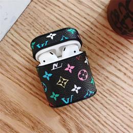 Наушники премиум-класса онлайн-для Apple air pod case Bluetooth для наушников крышка премиум-кожаная гарнитура защитный анти-потерянный защитный чехол модный дизайнер Air Wireless Case