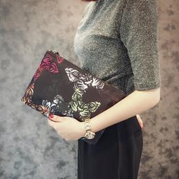 2019 telefone impresso 3d 2019 Novo designer retro bolsa 3D borboleta impressão saco de embreagem homens mulheres saco de embreagem envelope saco carteira pacote de cartão de telefone telefone impresso 3d barato