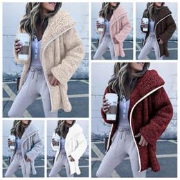 2019 chaqueta de lana de felpa Las mujeres de invierno Sherpa Fleece Suéter  8 colores de 00d6f1609fa6