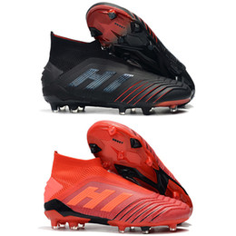 cc08afba6acc New Arrival Mens High Tops Football Boots Predator 19+ Firm Ground ZIDANE  BECKHAM Soccer Cleats Predator 19 FG Outdoor Soccer Shoes