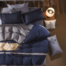 Комплект осеннего пододеяльника онлайн-Home Textile 4pcs Bedding Sets Duvet Cover Bed Sheet Pillow Cover 100%cotton Autumn Winter Warm  Be1027