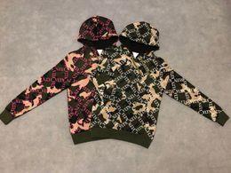 19ss diseñador para hombre Sudaderas con capucha jumper Sudaderas Camuflaje alto VL letras imprimir nueva etiqueta Crew Neck ropa desde fabricantes