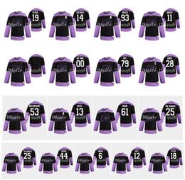 2020 praticar mochilas de hóquei Philadelphia Flyers Jersey luta o cancro Practice 28 Claude Giroux 79 Carter Hart 19 Nolan Patrick 14 Sean Couturier 93 Jakub Voracek Hockey praticar mochilas de hóquei barato