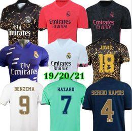 ko Rabatt 20 21 Real Madrid Hazard-Fußball Jersey 2019 2020 real madrid Trikots BENZEMA SERGIO RAMOS KROOS 19 20 Fußball Trikots maillot real madrid