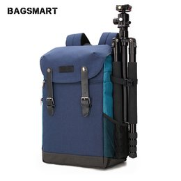 Bolsa de cámara multifuncional online-ackpack bag men BAGSMART Mochila para cámara multifuncional DSLR Bag for 15.6 Laptops Funda impermeable para lluvia para Canon Nikon Camera Accessor ...