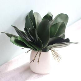 lasciare l'orchidea artificiale Sconti fiori decorativi 1Pcs vero tocco foglia phalaenopsis pianta a foglia artificiale materiale ausiliario decorazione foglie fiore di orchidea