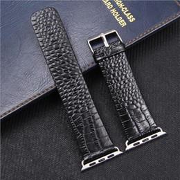 reemplazar reloj Rebajas Patrón de cocodrilo Banda de reloj de cuero genuino para Apple Watch 38mm 42mm Rojo Business Reemplazar pulsera Correa de banda para iwatch 123 4