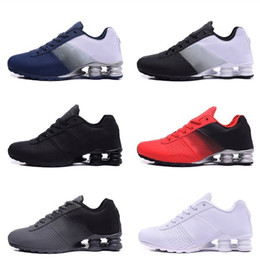 athletic shoe sells Coupons - Sell 2019 New Shox Deliver 809 Men Running Shoes Cheap Famous DELIVER OZ NZ Athletic Sneakers Black White Blue Increased Air Cushion Shoes