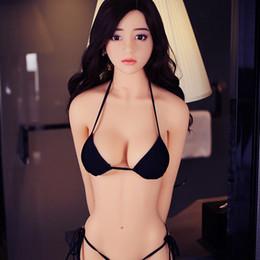 Pecho de sexo asiático online-168 cm Muñeca Sexual de Silicona Real Para Hombres Asiática Japonesa Muñeca de Amor Pecho Grande Culo Grande Mujer Realista Vagina Tpe Muñecas Sexuales